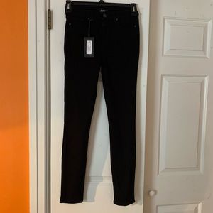 Paige Hoxton Hi Rise Ultra Skinny Jeans in Black